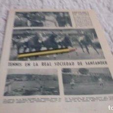 Coleccionismo Papel Varios: RECORTE AÑOS 50 - BILBAO ,HIPICA EN FADURA, TENNIS EN REAL SOCIDAD SANTANDER. PESCA ATUN,GOLFO VIZCA. Lote 192234792