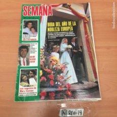 Coleccionismo Papel Varios: REVISTA SEMANA. Lote 192353883