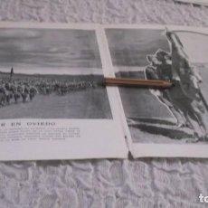 Coleccionismo Papel Varios: RECORTE AÑO 1935 - OVIEDO(ASTURIAS)ENTREGA DE GUIÓN A LA 4ª BANDERA DEL TERCIO DE LA LEGIÓN. Lote 192584492
