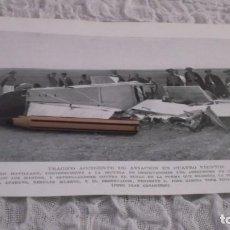 Coleccionismo Papel Varios: RECORTE AÑO 1935 - MADRID.AERÓDROMO 4 VIENTOS.CAPITAN PEDRO ATAURI RESULTO MUERTO ,ILESO EL TENIENTE. Lote 192699356