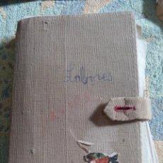 Coleccionismo Papel Varios: CARPETA DE LABORES CON PATRONES Y DIBUJOS A MANO. Lote 193205402