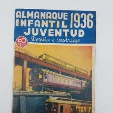 Coleccionismo Papel Varios: ALMANAQUE INFANTIL JUVENTUD ( 1936 ) HISTORIETAS, CUENTOS ... ILUSTRADO. Lote 193622473