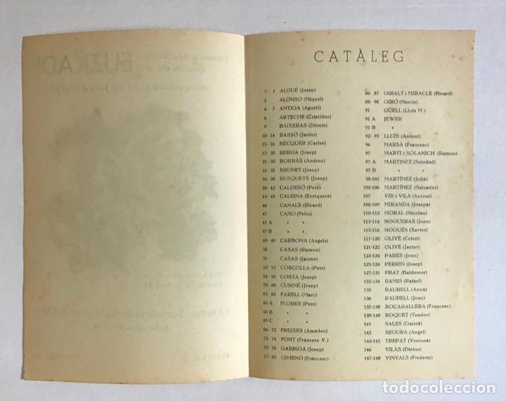 Coleccionismo Papel Varios: EXPOSICIÓ DE DIBUIXOS I GRAVATS D'AJUT A EUZKADI. - [Catàleg. Guerra Civil.] - Foto 2 - 194003760