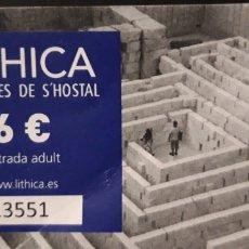 Coleccionismo Papel Varios: ENTRADA CANTERAS DE S'HOSTAL. Lote 194344043