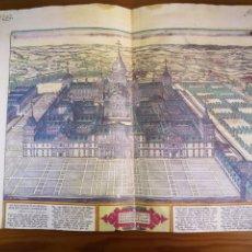 Coleccionismo Papel Varios: ANTIGUO GRABADO MONASTERIO DEL ESCORIAL FACSÍMIL AÑO 1591. Lote 194388071