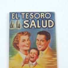 Coleccionismo Papel Varios: PUBLICIDAD DE EL TESORO DE LA SALUD. OBRAS DEL DOCTOR VANDER. EXCLUSIVAS VIDOR. BARCELONA. MIDE 12 X. Lote 194394033