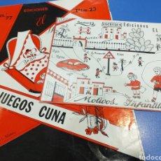 Coleccionismo Papel Varios: 2 CUADERNOS EL MIGUELETE 1 DE JUEGOS DE CUNA Y 1 DE MOTIVOS INFANTILES. Lote 194507985