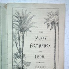 Coleccionismo Papel Varios: THE PENNY ALMANACK FOR 1899. THE RELIGIOUS TRACT SOCIETY, LONDON, 1899. Lote 194532708