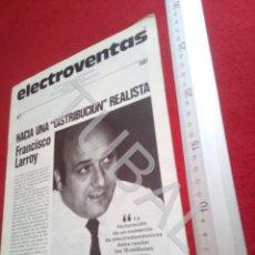 Coleccionismo Papel Varios: TUBAL ELECTROVENTAS 7 REVISTA 1981 CINE IMAGEN SONIDO 250 GRS U6. Lote 194612167