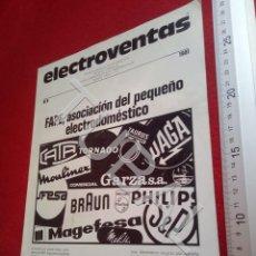 Coleccionismo Papel Varios: TUBAL ELECTROVENTAS 8 REVISTA 1981 CINE IMAGEN SONIDO 250 GRS U6. Lote 194612323