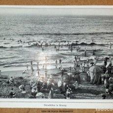 Coleccionismo Papel Varios: BIARRITZ, VIDA DE PLAYA - AÑO 1913 - 17 X 13 CM. Lote 194612358