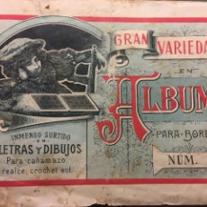 Coleccionismo Papel Varios: ALBUMS PARA BORDAR NÚM. 2 - CASA ESPECIAL EN LA FABRICACIÓN DE LOS ALBUMS PARA BORDAR. Lote 194613211