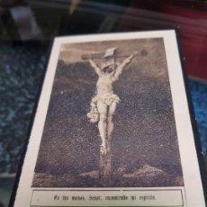 Coleccionismo Papel Varios: ANTIGUA ESTAMPA RELIGIOSA DEFUNCION JIJONA ALICANTE 1940. Lote 194614296
