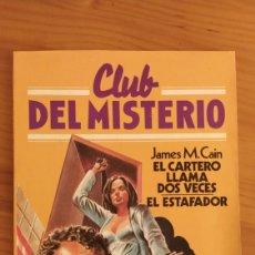 Coleccionismo Papel Varios: CLUB DEL MISTERIO N 9 , EL CARTERO SIEMPRE LLAMA DOS VECES.. Lote 194632861