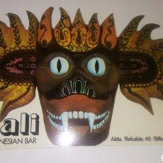 Coleccionismo Papel Varios: POSAVASO BALI INDONESIAN BAR BILBAO. Lote 194646567
