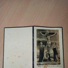 Coleccionismo Papel Varios: ANTIGUA ESTAMPA RELIGIOSA DEFUNCIÓN POZO-ESTRECHO 1926. Lote 194752363