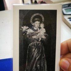 Coleccionismo Papel Varios: ESTAMPA IMAGEN DE SAN ANTONIO MUY VENERADA EN LA CATEDRAL DE CIUDAD RODRIGO PLASTIFICADA. Lote 194781058