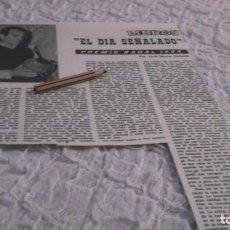Coleccionismo Papel Varios: RECORTE AÑO 1964 . EL NOVELISTA COLOMBIANO MANUEL MEJÍA VALLEJO ,PREMIO NADAL 1964. Lote 194870752