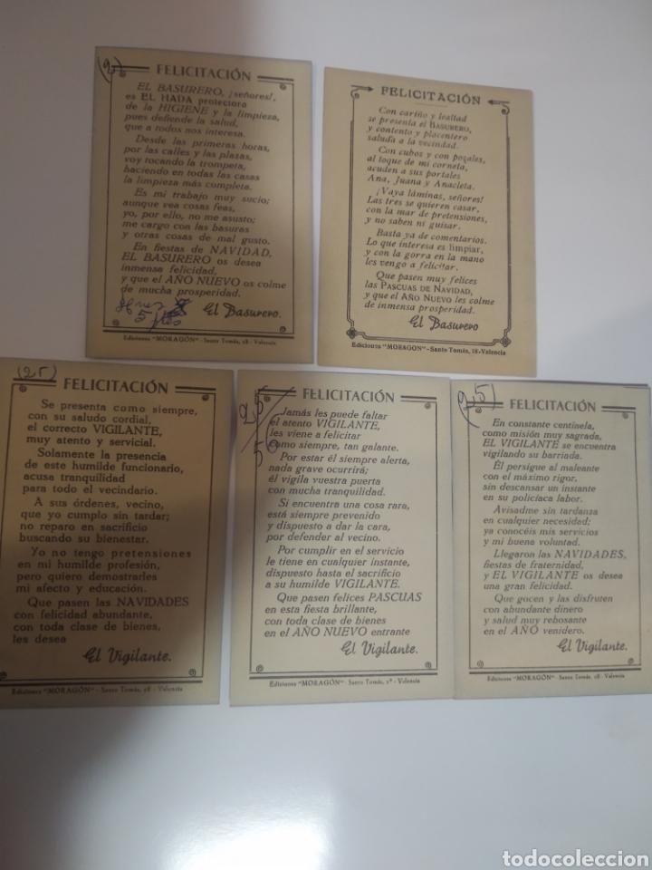 Coleccionismo Papel Varios: Folletos felicitacion fiestas El vijilante , el basurero - Foto 2 - 194895353
