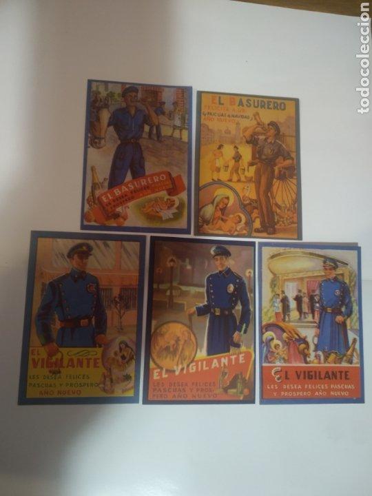 FOLLETOS FELICITACION FIESTAS EL VIJILANTE , EL BASURERO (Coleccionismo en Papel - Varios)