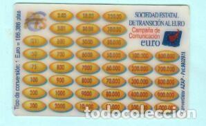 CONVERTIDOR EUROS PESETAS TARJETA HOLOGRÁFICA (Coleccionismo en Papel - Varios)