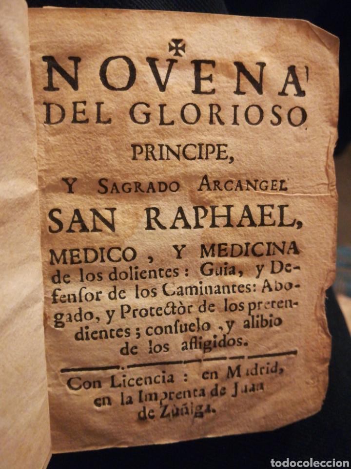 SAGRADO ARCÁNGEL SAN RAPHAEL NOVENA Y DEVOCIÓN MADRID SIGLO XVIII (Coleccionismo en Papel - Varios)