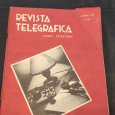 Coleccionismo Papel Varios: REVISTA TELEGRÁFICA FEBRERO 1940. Lote 194939985