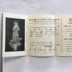 Coleccionismo Papel Varios: ARCHICOFRADIA DE LA BEATA IMELDA. NOTIFICACIÓN JUNTA. AÑO 1961.. Lote 194947742