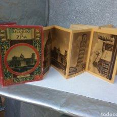 Coleccionismo Papel Varios: RECUERDO DE PISA ITALIA GRAN DESPLEGABLE 32 VISTAS AÑOS 40. Lote 194953186