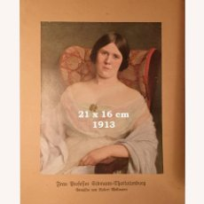 Coleccionismo Papel Varios: CROMO SOBRE CARTULINA - LITOGRAFIA DE LA PINTURA DE ROBERT MELLMANN - AÑO 1913 - 21X16 CM. Lote 194982110