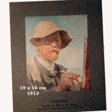 Coleccionismo Papel Varios: CROMO SOBRE CARTULINA - LITOGRAFIA DE LA PINTURA DE PEDER SEVERIN KRØYER - AÑO 1913 - 19X16 CM. Lote 194982708