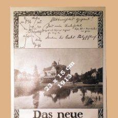 Coleccionismo Papel Varios: SALZSCHLIRFER BADEHOTEL - AÑO 1913 - 23 X 15 CM. Lote 194983901