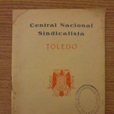 Coleccionismo Papel Varios: REGLAMENTO DE TRABAJO EN EL CAMPO 1938. Lote 195057343
