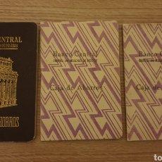 Coleccionismo Papel Varios: 3 CARTILLA BANCO CENTRAL. Lote 195057627