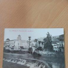Coleccionismo Papel Varios: ANTIGUA POSTAL PANORAMA DE LA CAJA DEL RIO ANDRÉS FABERT ORIHUELA. Lote 195068547