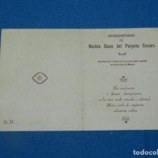 Coleccionismo Papel Varios: (M) PROGRAMA RELIGIOSOS ARXICONFRARIA NOSTRA DONA DEL PERPETU SOCORS, MATARO 1929. Lote 195084958