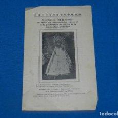 Coleccionismo Papel Varios: (M) PROGRAMA RELIGIOSOS MARE DE DEU DE GRASOLET, IMMACULADA CONCEPCIÓ, SALDES 1904. Lote 195086138