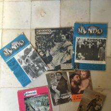 Coleccionismo Papel Varios: LOTE DE VARIAS PUBLICACIOES ANTIGUAS, EL MENSAJERO, REDENCION, SABADO GRÁFICO, MUNDO. Lote 195086453