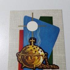 Coleccionismo Papel Varios: TARJETA ILUSTRADA POR BENAGES - NAVIDAD COMUNIÓN INCENSARIO - ANCLA TALLEDA S/67 O 5 - 62 X 106 MM. Lote 195102078