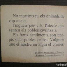 Coleccionismo Papel Varios: PANFLETO-SOCIETAT PROTECTORA D'ANIMALS I PLANTES DE CATALUNYA-VER FOTOS-(V-19.137). Lote 195141358