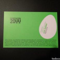 Coleccionismo Papel Varios: POSTAL CAJA MADRID GENERACIÓN 2000. Lote 195146483