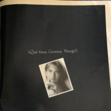 Coleccionismo Papel Varios: PUBLICIDAD DE CADENA SER, CON GEMMA NIERGA. ORIGINAL 1997. TAMAÑO FOLIO. ENMARCABLE.. Lote 195150823