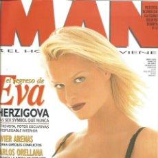Coleccionismo Papel Varios: EVA HERZIGOVA - REVISTA MAN - ONLY COVER - 1 HOJA - 1996. Lote 195192045