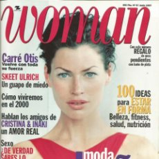 Coleccionismo Papel Varios: CARRÉ OTIS - REVISTA WOMAN - ONLY COVER - 1 HOJA - 1997 / LAETITIA CASTA L´OREAL. Lote 195196005