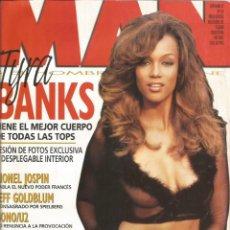 Coleccionismo Papel Varios: TYRA BANKS - REVISTA MAN - ONLY COVER - 1 HOJA - 1997. Lote 195196105