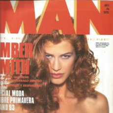 Coleccionismo Papel Varios: AMBER SMITH - REVISTA MAN - ONLY COVER - 1 HOJA - 1993. Lote 195196141