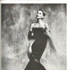 Coleccionismo Papel Varios: LISA FONSSAGRIVES - 2 PHOTOS BOOK - PEGADA EN CARTULINA - IRVING PENN - 2 HOJAS. Lote 195196396