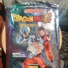 Coleccionismo Papel Varios: DRAGON BALL SUPER ALBUM +4 SOBRES. Lote 195238623