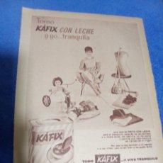 Coleccionismo Papel Varios: RECORTE PRENSA PUBLICIDAD KAFIX CON LECHE. Lote 195245727