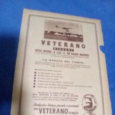 Coleccionismo Papel Varios: RECORTE PRENSA PUBLICIDAD VETERANO OSBORNE. Lote 195245840